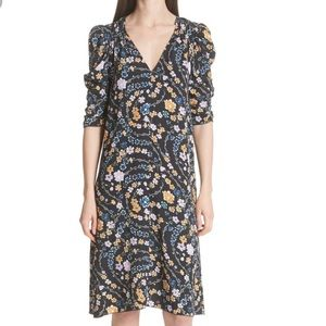 See By Chloe Floral Printed Ruched Sleeve Size 42